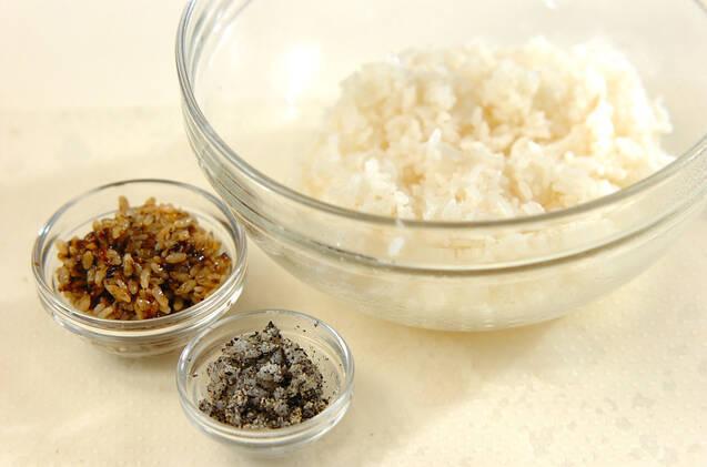 わんちゃんデコ巻き寿司の作り方の手順1