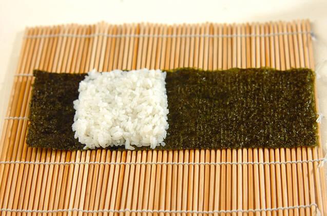 わんちゃんデコ巻き寿司の作り方の手順2