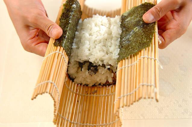 わんちゃんデコ巻き寿司の作り方の手順9