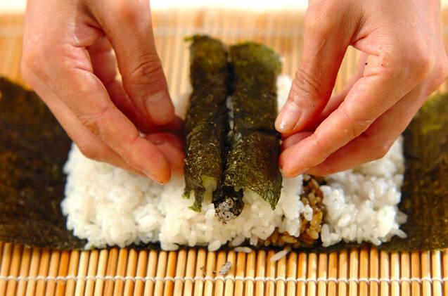 わんちゃんデコ巻き寿司の作り方の手順8