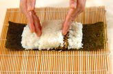 わんちゃんデコ巻き寿司の作り方4