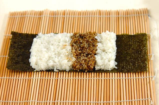 わんちゃんデコ巻き寿司の作り方の手順3