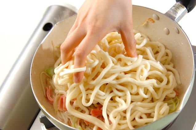 XO醤焼きうどんの作り方の手順3