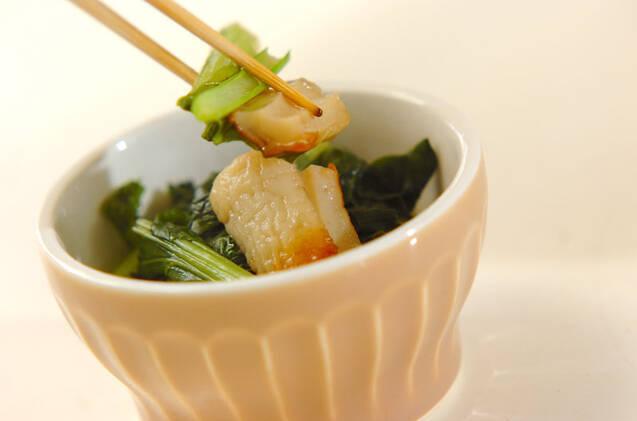 ほっとする味!小松菜とちくわの煮浸しの作り方の手順4