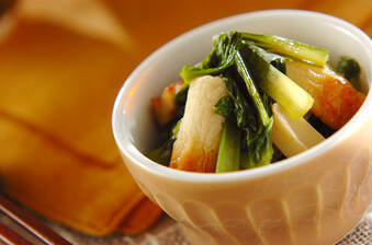 ほっとする味!小松菜とちくわの煮浸し