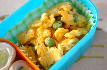 エンドウの炒り卵