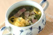 豆苗の卵スープ
