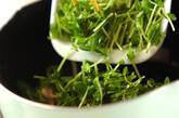 豆苗の卵スープの作り方3
