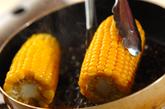 フライパンで焼きトウモロコシの作り方2