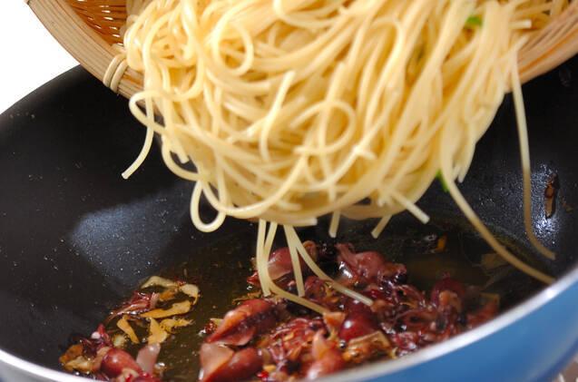 タケノコ&菜の花パスタの作り方の手順8