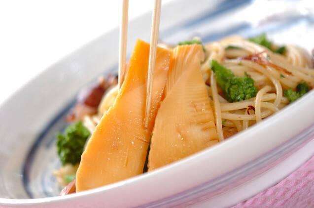 タケノコ&菜の花パスタの作り方の手順9