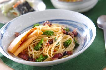 タケノコ&菜の花パスタ