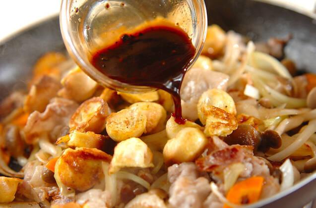 豚バラ肉と麩の中華炒めの作り方の手順9