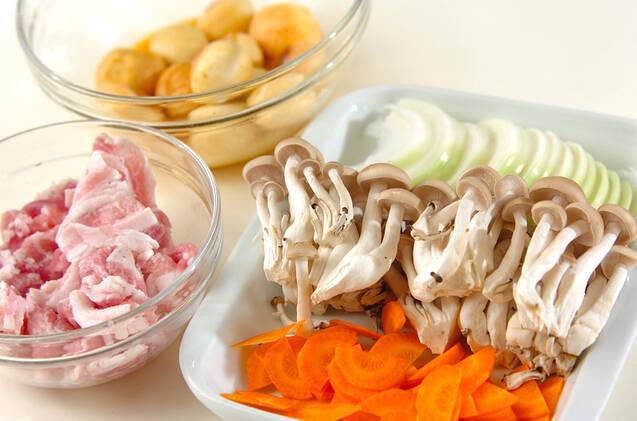 豚バラ肉と麩の中華炒めの作り方の手順1