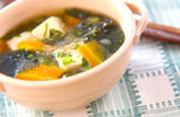 ワカメと豆腐のスープ