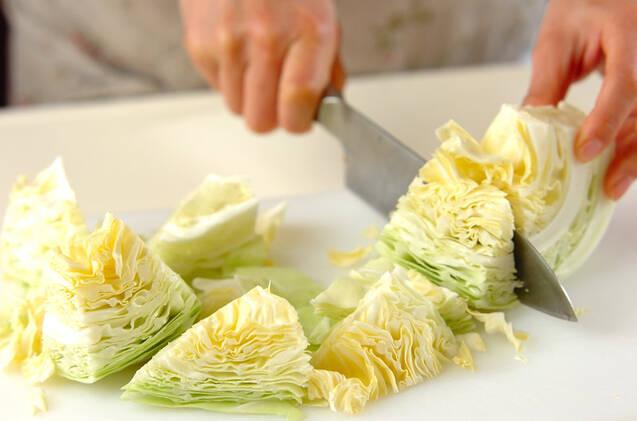 キャベツのガーリック炒めの作り方の手順1