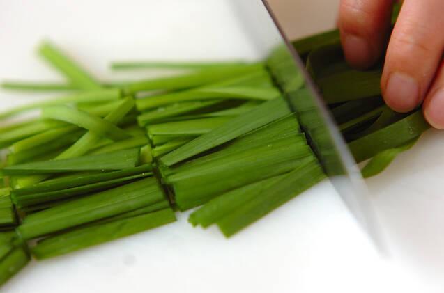 鶏そぼろと春雨の炒め煮の作り方の手順1