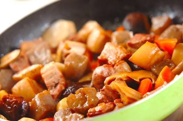 豚肉筑前煮風の作り方の手順11