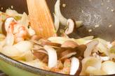 エビと玉ネギの炒め物の作り方3