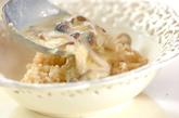 キノココーンチャウダーのスープご飯の作り方2