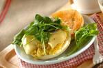 焼き芋のオープンサンド