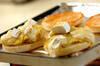 焼き芋のオープンサンドの作り方の手順2