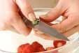 イチゴのキルシュ風味の下準備1