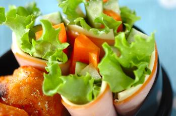 野菜のハムチーズ巻き