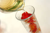 イチゴ入りシャンパンの作り方3