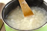 大根とキノコのおかゆの作り方1