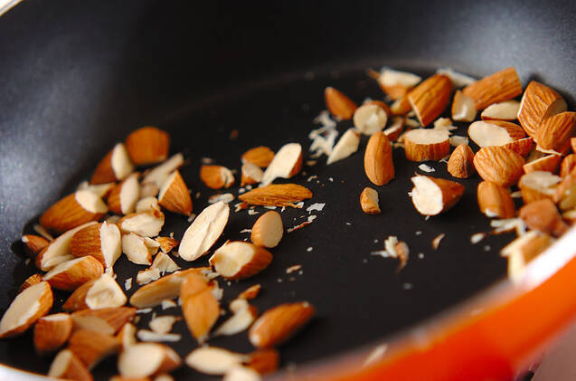 インゲンのナッツ和えの作り方の手順1