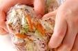 キャベツの梅おかか和えの作り方1