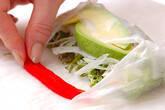 アボカドサラダ生春巻きの作り方9