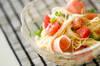 トマトの冷製パスタの作り方の手順