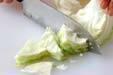キャベツの梅サラダの作り方の手順1