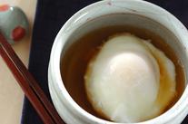 レンジで作る温泉卵