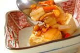 揚げ出し豆腐の野菜あんかけの作り方8