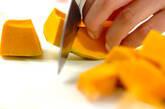 カボチャのチーズ和えの下準備1