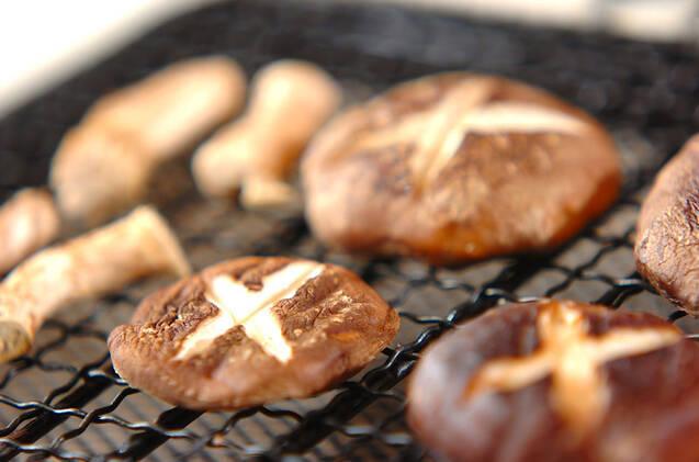 焼きシイタケのお吸い物の作り方の手順2