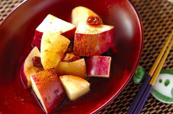 リンゴとサツマイモのレンジおやつ
