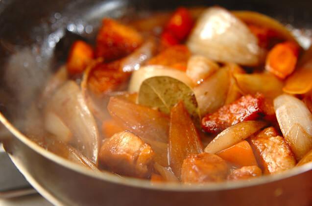 豚肉のワイン煮の作り方の手順7