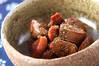 鶏もつの甘辛煮の作り方の手順
