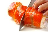 スモークサーモンロールサラダの作り方3