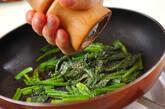 ホウレン草のオイスターソース炒めの作り方2