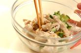 鶏むね肉とらっきょうのマヨ和えサラダの作り方1