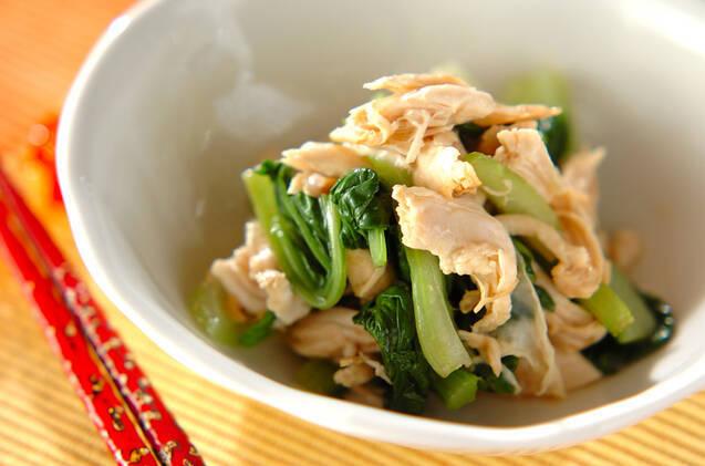 鶏ささみと青梗菜のナムル