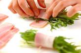 水菜のベーコン巻きの作り方4