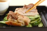 レンジで蒸し鶏の作り方3
