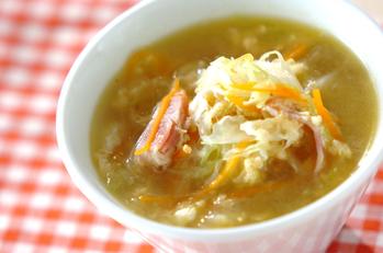 ベーコンとキャベツのスープ