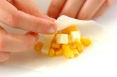 コーンとチーズのひとくち春巻きの作り方1